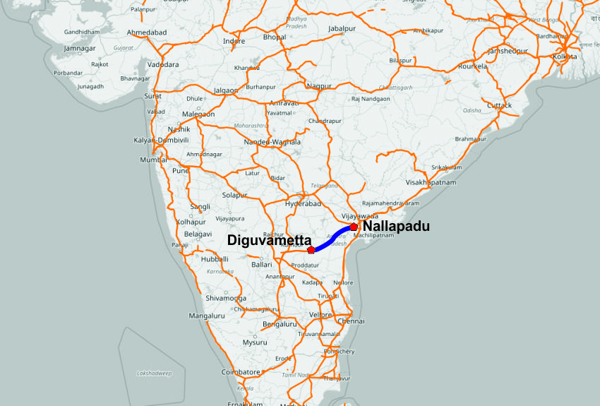 Abengoa completes electrification of nallapadu diguvametta line in india the electrification will help reduce travel times save energy costs and curb air pollution in the area gumiabroncs Choice Image